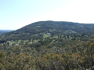 Mount Macedon, Victoria - Mount Macedon village from nearby Mount Towrong