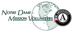 Notre Dame Mission Volunteers – AmeriCorps - Image: NDMVA Color Logo small