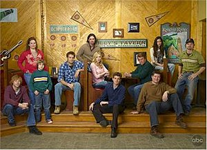 October Road (TV series) - The main characters (Left-to-Right): Phil, Janet, Sam, Eddie, Ray, Hannah, Nick, Bob, Owen, Aubrey, and Ikey.