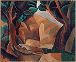 Pablo Picasso, 1908, Paysage aux deux figures (Landscape with Two Figures), oil on canvas, 60 x 73 cm, Musee Picasso, Paris.jpg