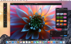 Pixelmator running on OS X Yosemite
