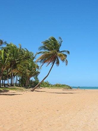 Luquillo, Puerto Rico - A view of Luquillo Beach