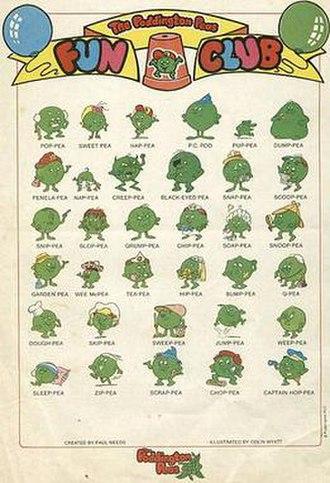The Poddington Peas - The Poddington Peas characters