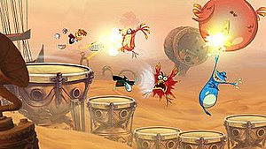 Rayman Origins - Rayman Origins co-operative gameplay