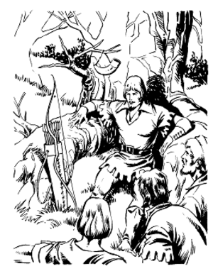 Merry Men - Robin Hood and the Merry Men (illustration by Pablo Marcos, ca. 1995)