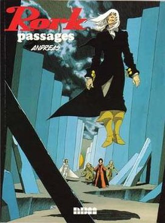 Rork - Cover of Rork: Passages graphic novel.