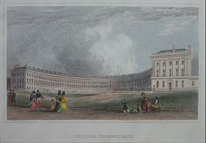 Jane Austen - Royal Crescent in Bath, c. 1829