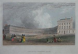 Jane Austen - Royal Crescent in Bath, c. 1829