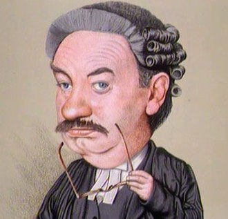 "Rumpole of the Bailey - Caricature of Leo McKern as Horace Rumpole from the episode ""Rumpole and the Younger Generation"""