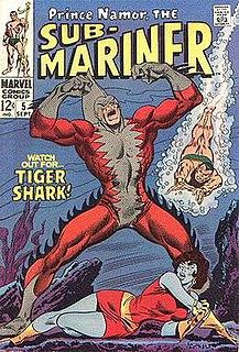 Tiger Shark (Marvel Comics) Comic book character