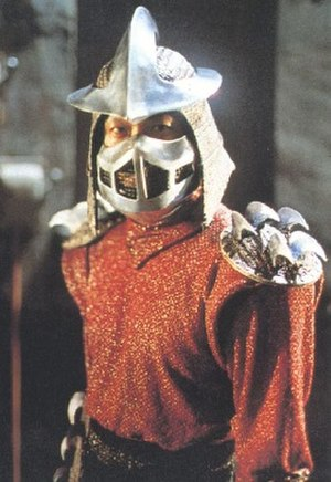 Shredder (Teenage Mutant Ninja Turtles) - James Saito as The Shredder in the film Teenage Mutant Ninja Turtles (1990).