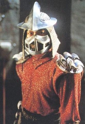 Shredder (Teenage Mutant Ninja Turtles) - James Saito as The Shredder in the film Teenage Mutant Ninja Turtles (1990).
