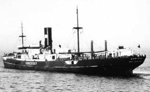 German submarine U-111 (1940) - The British Steam merchantman Somersby, the first enemy vessel to be sunk by U-111