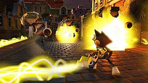 Sonic Forces - In addition to the two gameplay styles of Modern and Classic Sonic, players also create their own custom character, who is able to use gadgets and other items.