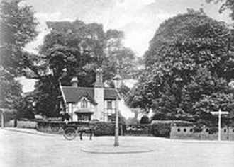 Hillingdon House - The southern entrance to Hillingdon House, c. 1900, later to become St Andrew's Gate of the former RAF Uxbridge.