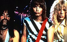 Derek Smalls (Harry Shearer), Nigel Tufnel (Christopher Guest) and David St. Hubbins (Michael McKean)