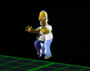 "Treehouse of Horror VI - In what Bill Oakley considers the ""money shot"", Homer steps into the 3D world"
