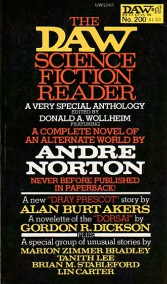 The DAW Science Fiction Reader - Cover from the first paperback edition