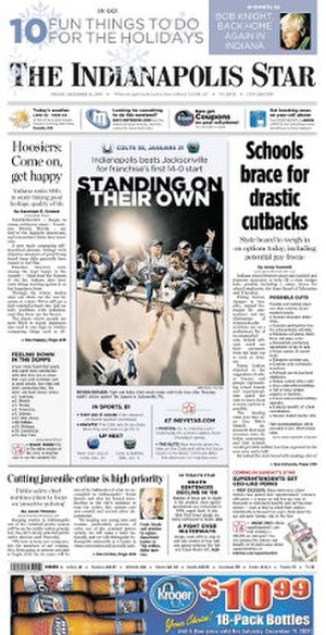 The Indianapolis Star - Image: The Indianapolis Star front page