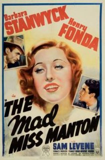 <i>The Mad Miss Manton</i> 1938 film by Leigh Jason