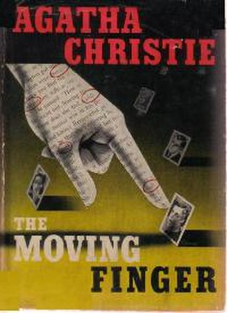The Moving Finger - Dust-jacket illustration of the US (true first) edition. See Publication history (below) for UK first edition jacket image.