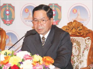 Thongbanh Sengaphone - Thongbanh attending the 9th Association of Southeast Asian Nations ministerial conference on Transnational Crime