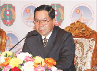Thongbanh Sengaphone Minister of National Security in Laos