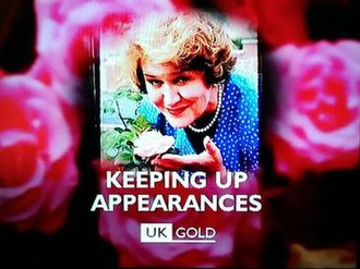 Gold (UK TV channel) - A holding slide for the television programme Keeping Up Appearances which demonstrates the 1997-1999 corporate style