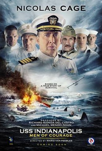 USS Indianapolis: Men of Courage - Film release poster