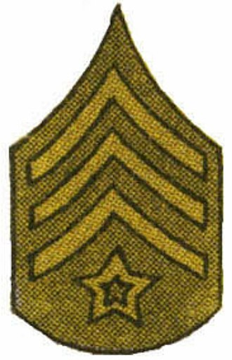 Colour sergeant - Color sergeant insignia used by the United States Army during World War I.