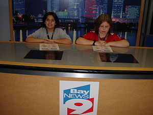Museum of Science & Industry (Tampa) - Children participate in a mock Bay News 9 news cast