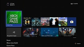 Xbox One system software - Image: Xbox One interface