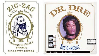 The Chronic - Comparison of Zig-Zag rolling papers with The Chronic album cover