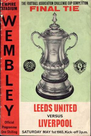 1965 FA Cup Final - Match programme cover