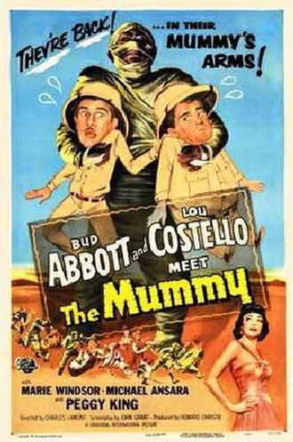 Abbott and Costello Meet the Mummy - Theatrical release poster