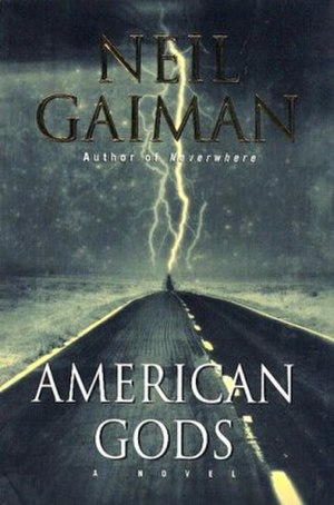 American Gods - Cover of first edition (hardcover)