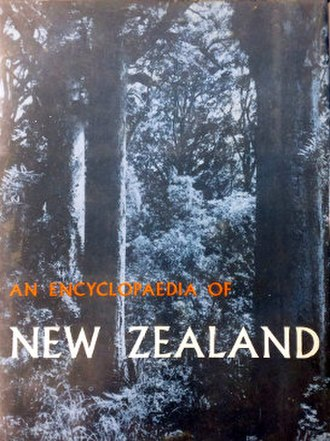 An Encyclopaedia of New Zealand - Dust jacket front cover