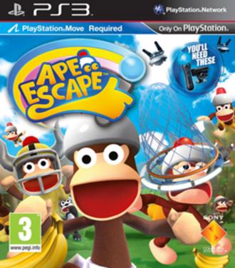 PlayStation Move Ape Escape - European cover art