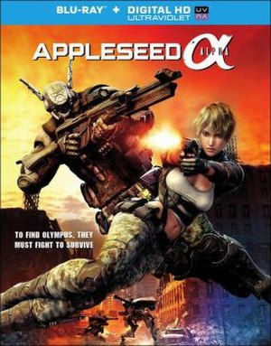 Appleseed Alpha - Blu-ray Disc cover