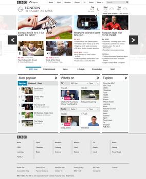 BBC Homepage November 2011