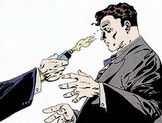 Two-Face - Acid is thrown onto Harvey Dent's face in Batman: The Long Halloween.