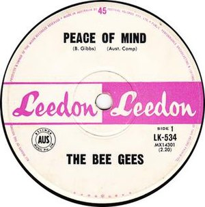 Peace of Mind (Bee Gees song) - Image: Beegeespeaceofmind