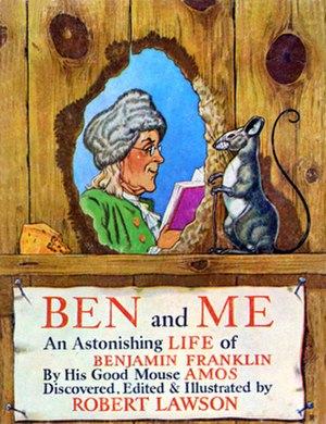 Robert Lawson (author) - Lawson's cover for Ben and Me