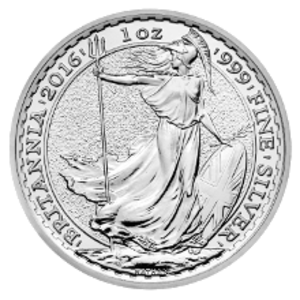 Britannia (coin) - Image: Britannia 2016 UK One Ounce Silver Bullion Coin Reverse