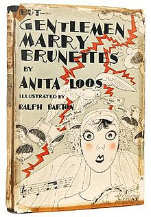 an analysis of gentlemen prefer blondes by anita loos Lorelei lee is just a simple girl from little rock, arkansas who manages to  charm the world (or at least a significant portion of the wealthy male population in .