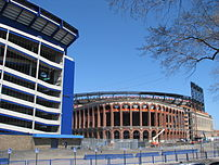Shea Stadium and Citi Field.  3/29/08.