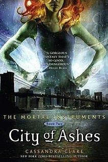 <i>City of Ashes</i> book by Cassandra Clare