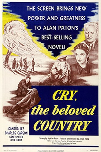 Cry, the Beloved Country (1951 film) - U.S. theatrical release poster