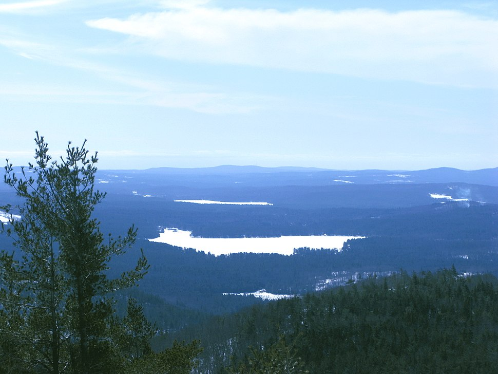 Crystal lake as seen from mt mack in winter 2013