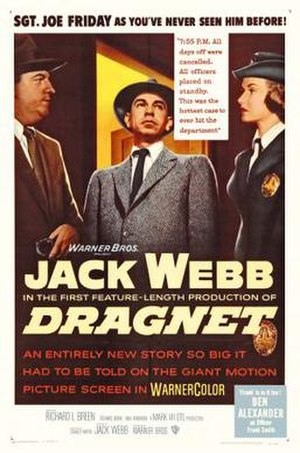Dragnet (1954 film) - Theatrical release poster